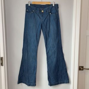 Wide Flare Leg Jeans from See Thru Soul - 32